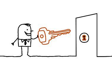 Stock_man_key_in_door_380
