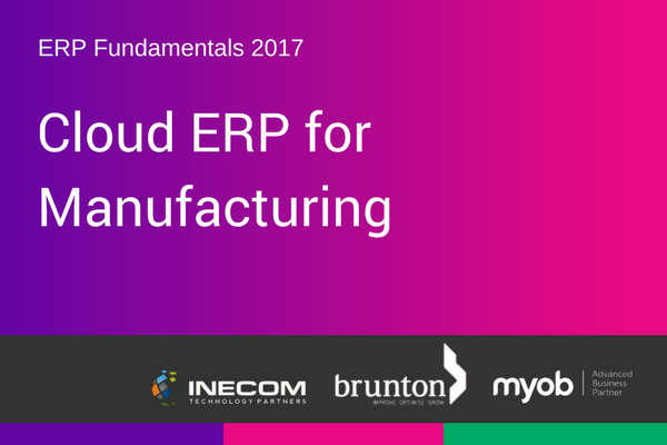 Cloud ERP for manufacturing